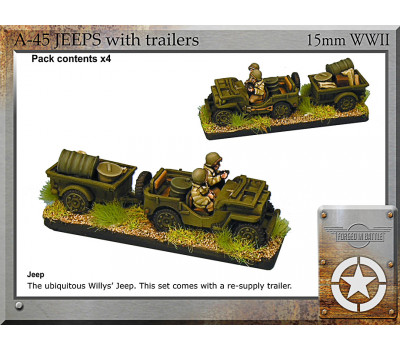 A-45 Jeeps and trailers x4