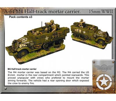 A-64 M4 halftrack + mortar x3