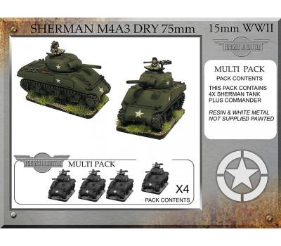 A-22 Sherman M4A3 dry 75mm (4 tanks)