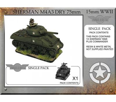 A-22-ONE Sherman M4A3 dry 75mm (1 tank)