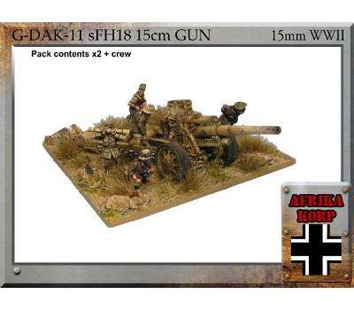 G-DAK-11 - Africa Korps sFH18, 15cm Gun & Crew