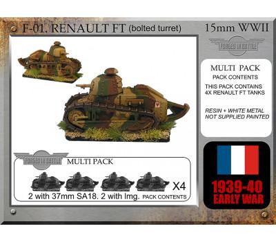 F-01 Renault FT x 4