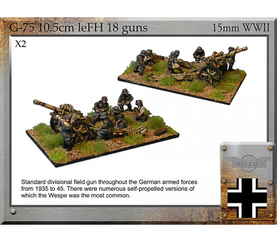 G-75 10.5cm leFH18 Guns & Crew