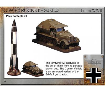 G-99 V2 rocket + Sdkfz.7 Control Vehicle