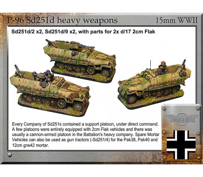 P-96 Sd251d heavy weapons