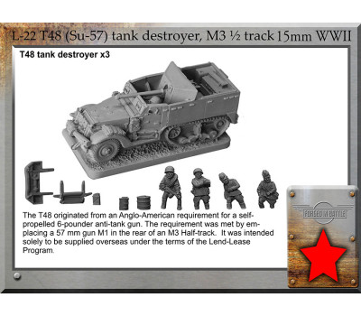L-22 T48/Su-57 tank destroyer, on M3 ½ track chassis