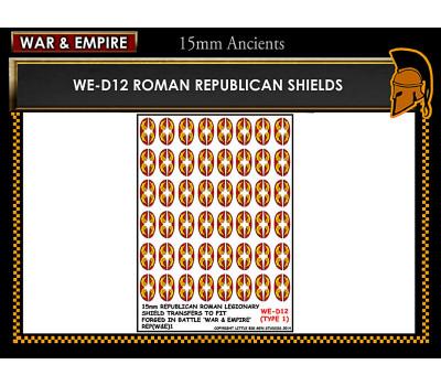 WE-D12 Republican Roman large oval shields