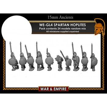 WE-GL04 Later Greek, Spartan/Cloaked Hoplites