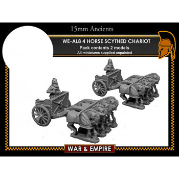 WE-AL08 Later Persian, 4-Horse Scythed Chariots