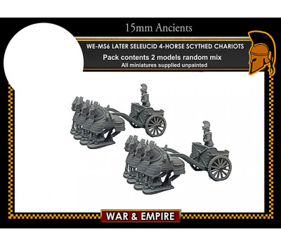WE-MS06 Later Seleucid 4-Horse Scythed Chariots