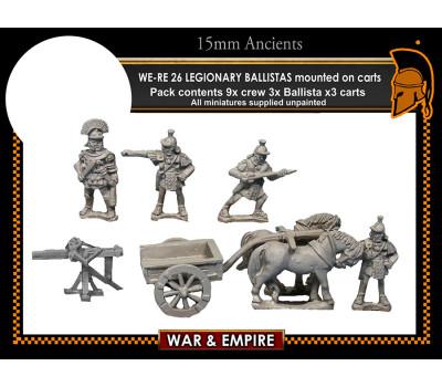 WE-RE26 Legionary ballistas, mounted on carts