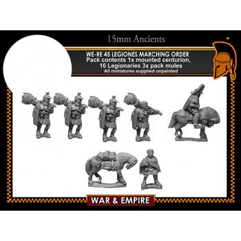 WE-RE45 Legiones in marching order, segmentata, 1st Century