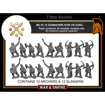 WE-PS10 Skirmishers, bow/sling