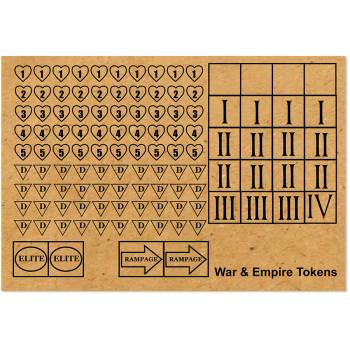 WE-X09 War & Empire MDF Tokens Set