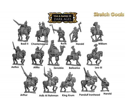 WE-SG01 Dark Ages Assorted Speciality Figures Generals Pack
